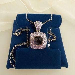 JTV Artisan Purple Tanzanite Necklace